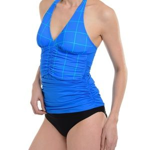 NWTO Size 6 Ruched Halter Tankini